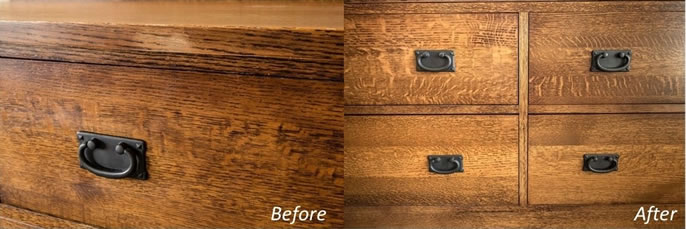 TV Console Before and After