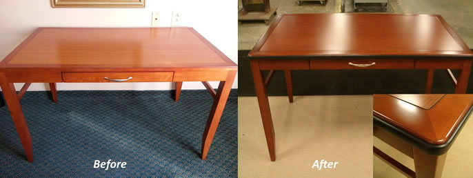 Desk Refinishing