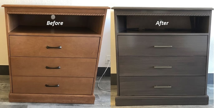 Before and After Media Console