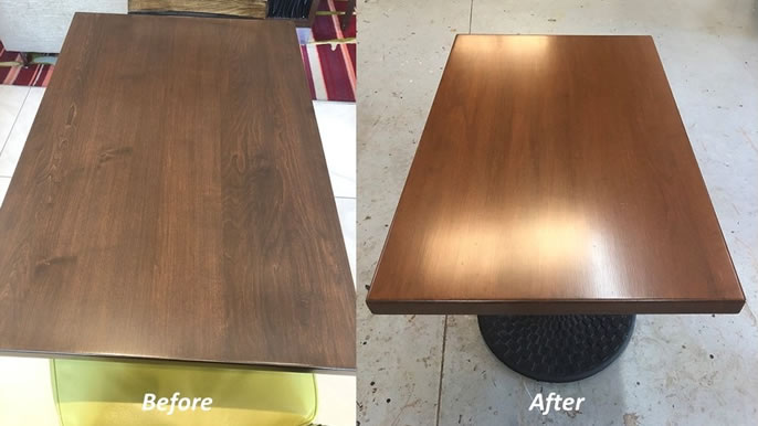 Reupholstery Before and After